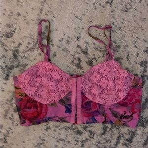 Pins & Needles- Lace and Floral bralette -Medium